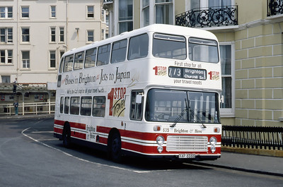 Brighton and Hove 635 Pool Valley Coach Station Brighton May 87