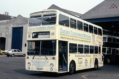 Brighton Borough Transport 14 Depot Brighton May 87
