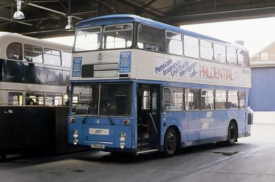 Brighton Borough Transport 4 Depot Brighton May 87