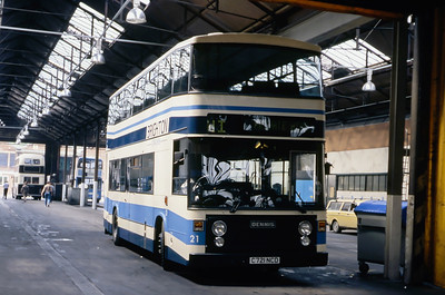 Brighton Borough Transport 21 Depot Brighton May 87