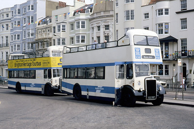Brighton Borough Transport 35_34 Old Steine Brighton May 87