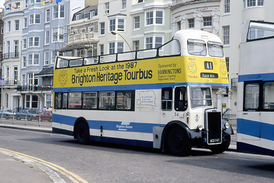 Brighton Borough Transport 34 Old Steine Brighton May 87