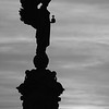 Peace Statue Sunset B&W