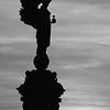 Peace Statue Sunset B&W
