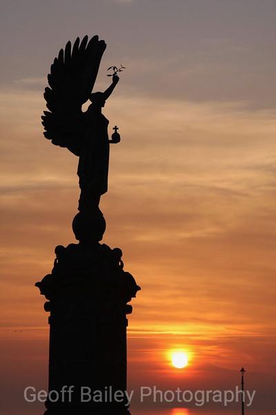 Peace Statue Sunset