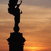 Peace Statue Sunset