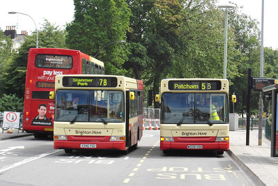 245 (V339VGX) and 246 (X346YGU) - Brighton (St Peters Church) - 16.6.12