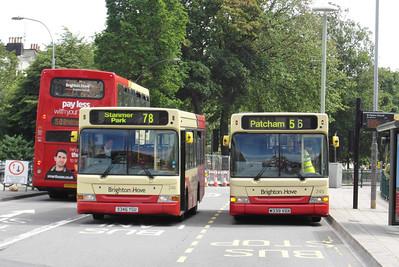 245 (V339VGX) and 246 (X346YGU) - Brighton (St Peters Church) - 16.6.12