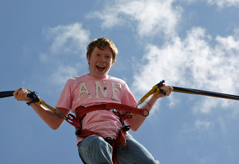 Boy Bungee Jumping