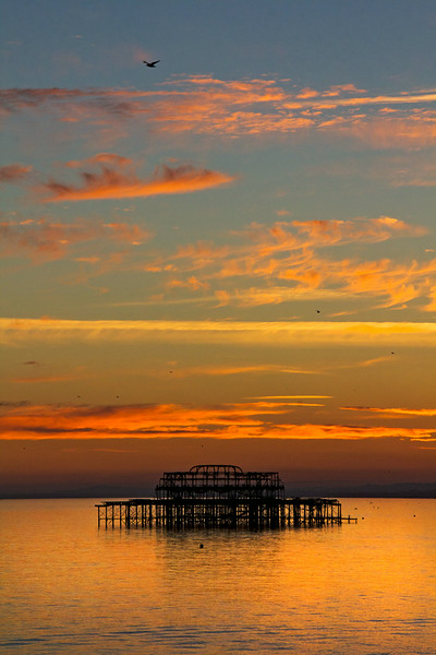 West Pier at sunset