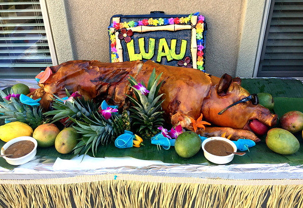 Brightwater Senior Living Hawaiian Luau Dinner with Mom Stewart August 29, 2018