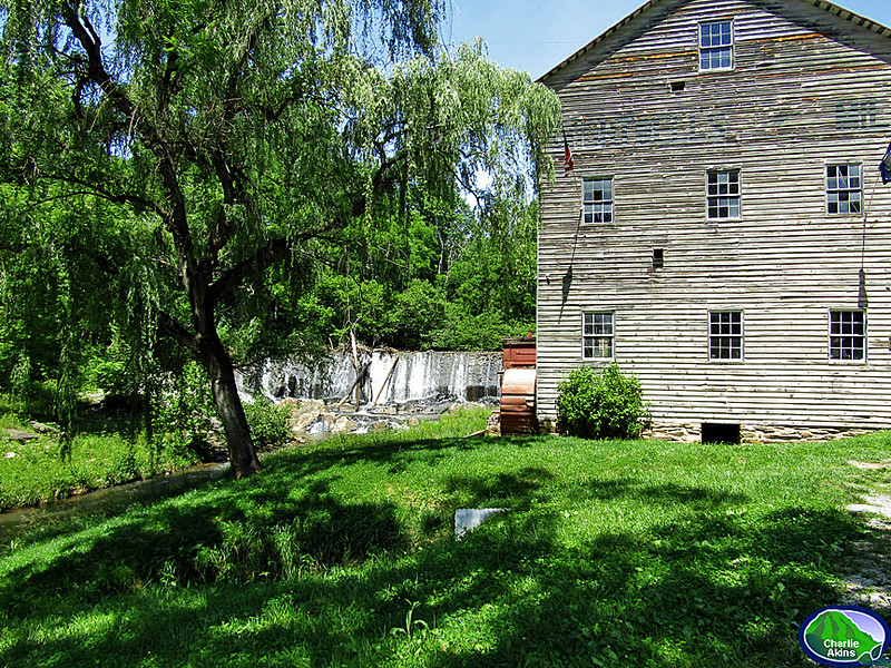 Close-up picture of the mill
