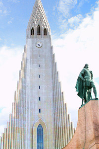 Hallgrimskirkja - Big Church in the middle of Reykjavik.