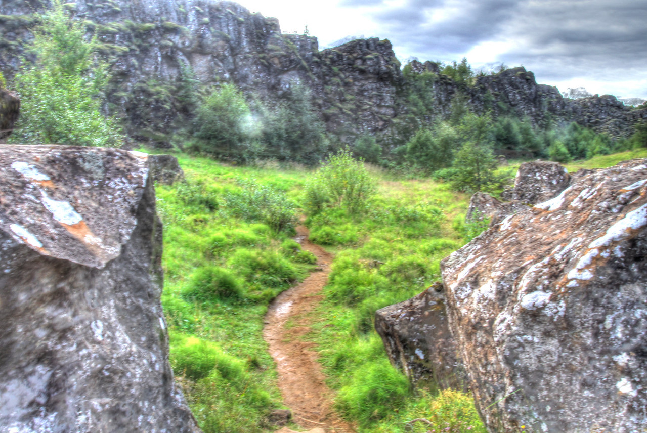 Thingvellir trail. Location of the first parliament.