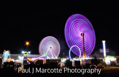 Boulder county fair at night