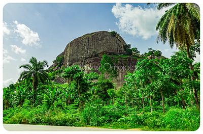 Rock upon a rock in Ekiti Nigeria