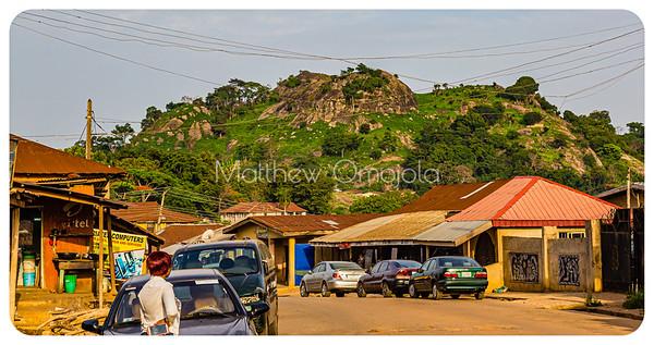 'Olota lu le Ado', A deified hill in Ado Ekiti. Editorial Photo.