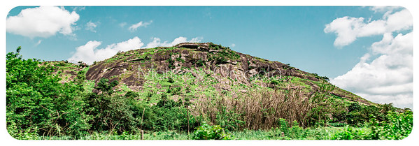 One of the many hills in Ekiti State of Nigeria