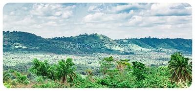 A hilly ridge on Efon Alaaye road Ekiti State