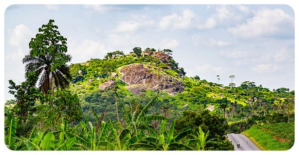 The disappearing road - somewhere between Iyin and Ado Ekiti in Ekiti State Nigeria.