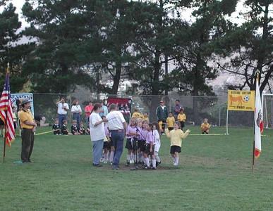 AYSO kick-off 2001