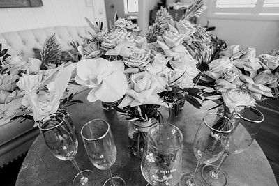 117_Chelsea and Brent Bridal Prep at Preston Peak Wines_She_Said_Yes_Wedding_Photography_Brisbane-_BnW