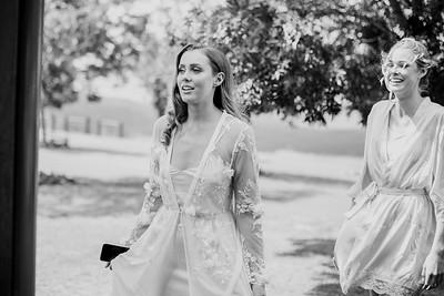 129_Chelsea and Brent Bridal Prep at Preston Peak Wines_She_Said_Yes_Wedding_Photography_Brisbane-_BnW