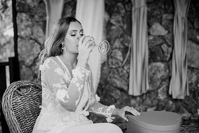 174_Chelsea and Brent Bridal Prep at Preston Peak Wines_She_Said_Yes_Wedding_Photography_Brisbane-_BnW