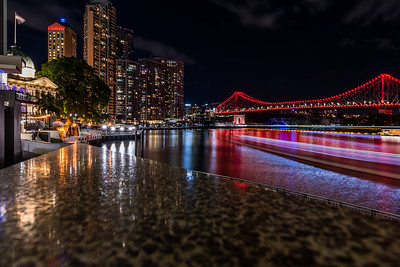 View of Story Bridge from Eagle Street Pier.