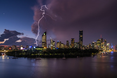 Stormy night in Brisbane.