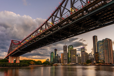 View of Story Bridge and Brisbane CBD.