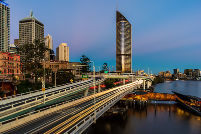 View of 1 William Street from Victoria Bridge.