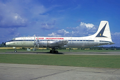 Lloyd International Airways Bristol Britannia 312F G-AOVP (msn 13424) (Jacques Guillem Collection). Image: 946315.