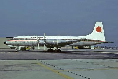 Aerocaribbean Bristol Britannia 253 CU-T120 (msn 13508) HAV (Richard Vandervord). Image: 950615.