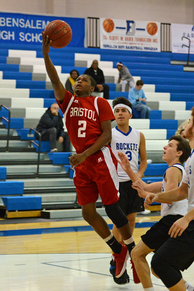 Leroy Freeman (2) drives to the basket.