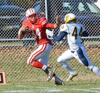 Bristol senior Deshawyn Cortez (34) breaks free for a touchdown.