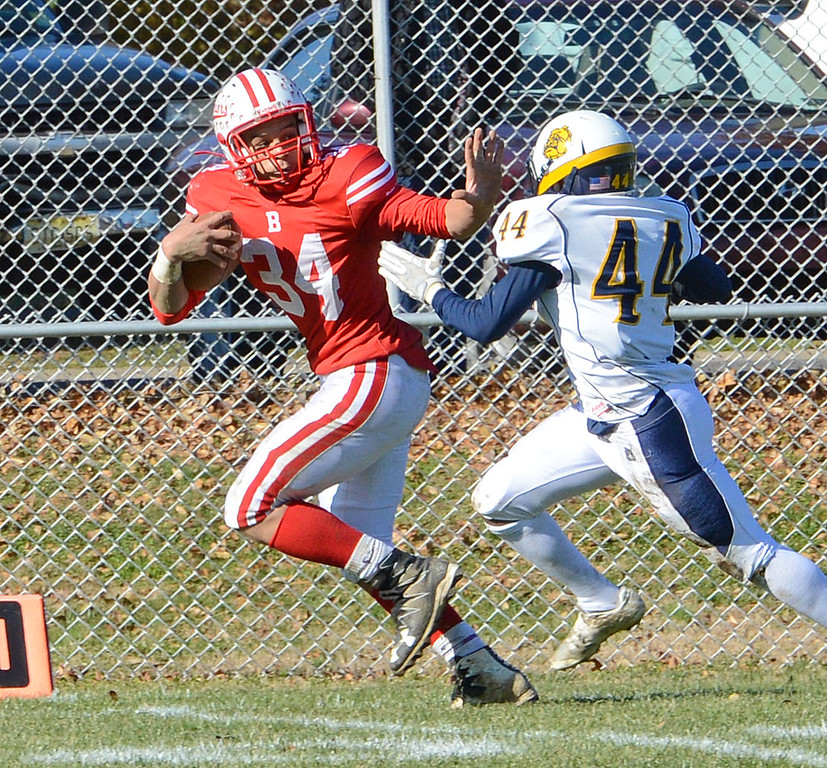 . Bristol senior Deshawyn Cortez (34) breaks free for a touchdown.