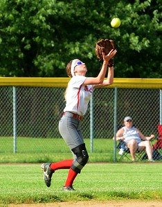 Senior Desiree Franchitti (7) makes running catch.