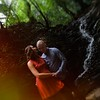 waterfall engagement couple