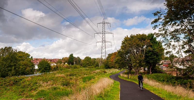 Suburban cycle path