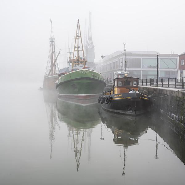 Prince's Wharf in the fog