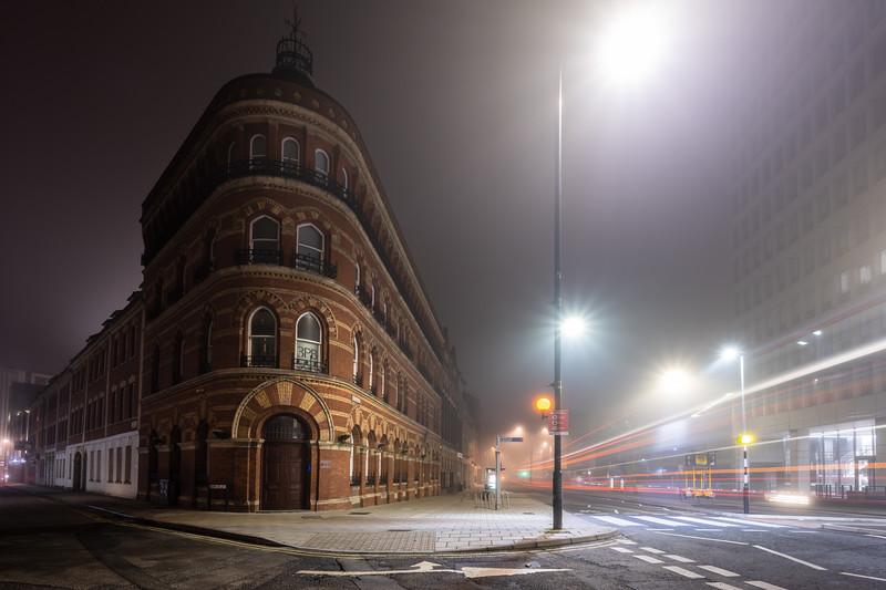 Misty night on Victoria Street