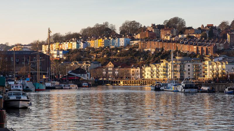 Winter sun on Bristol Docks