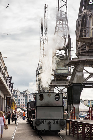 Steam engine on Bristol Harbour Railway