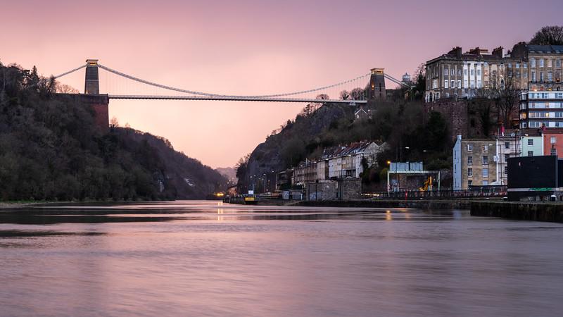 Suspension Bridge sunset