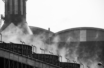Steam at Seabank Power Station