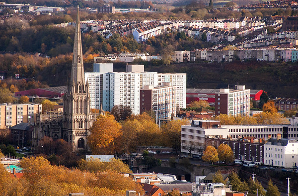 Cabot Tower: Bristol from Brandon Hill