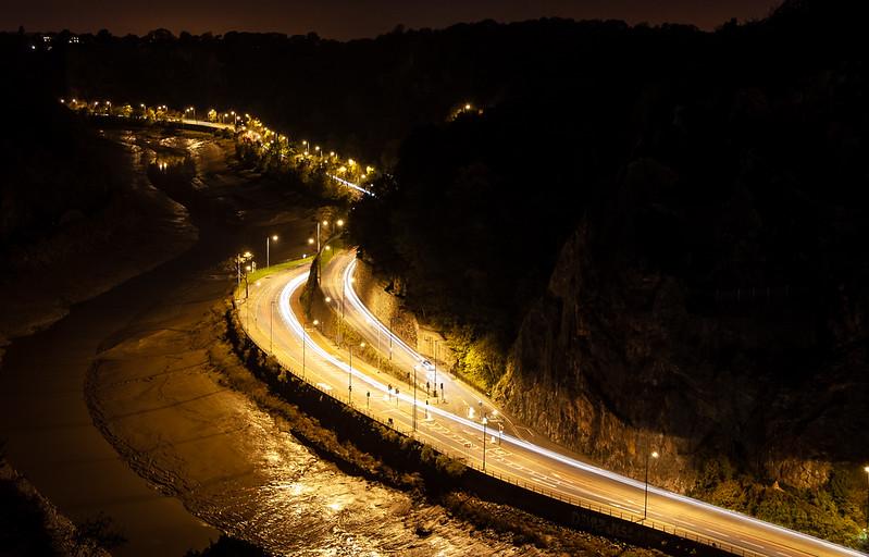 Portway at night