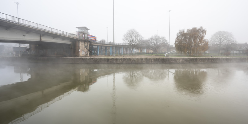 Mist on Bristol Harbour
