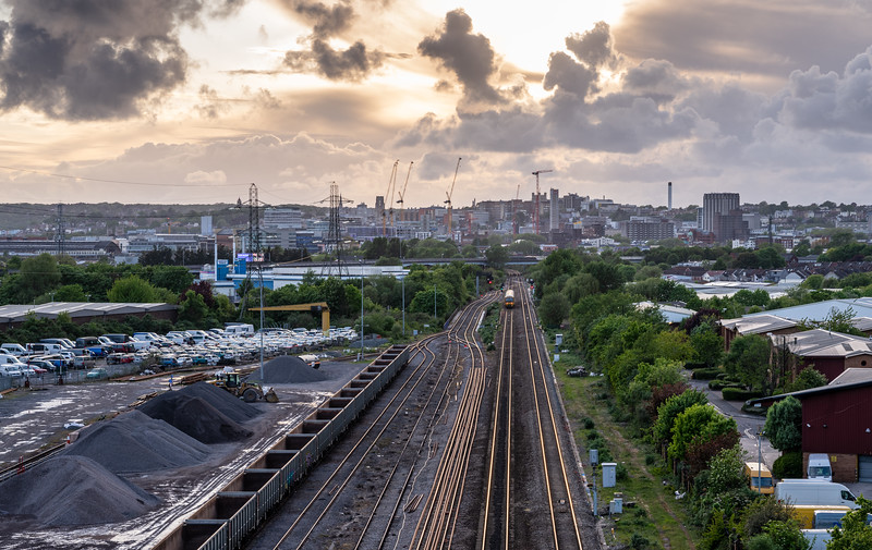 Great Western Railway and Bristol cityscape